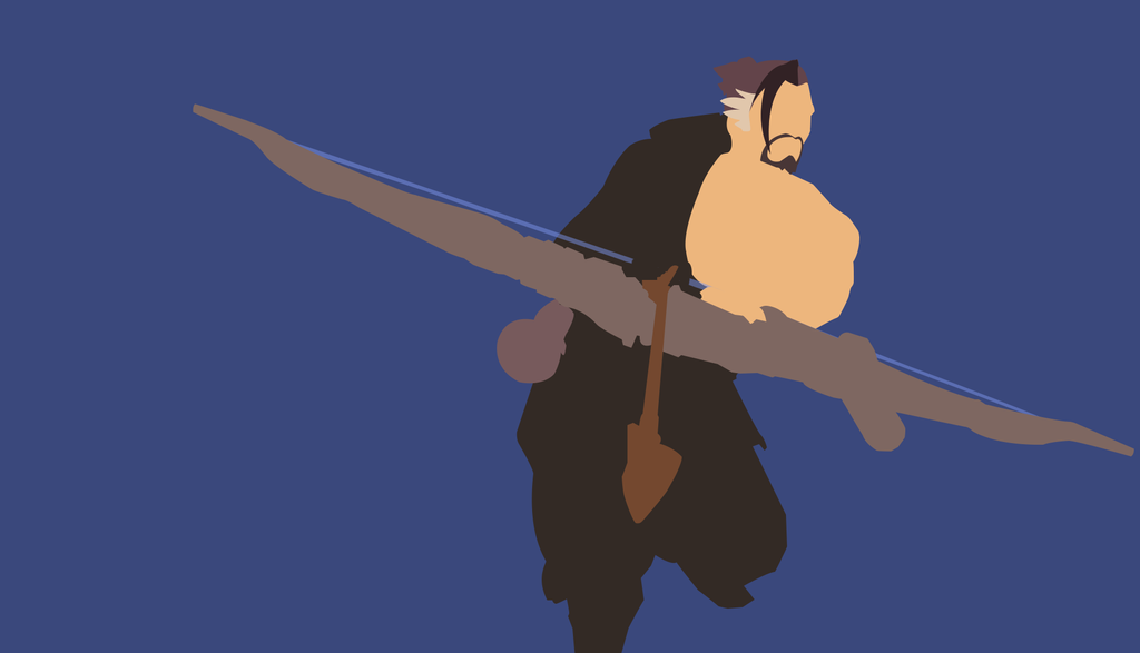Hanzo Overwatch Minimalistic Wallpaper by EvoDario