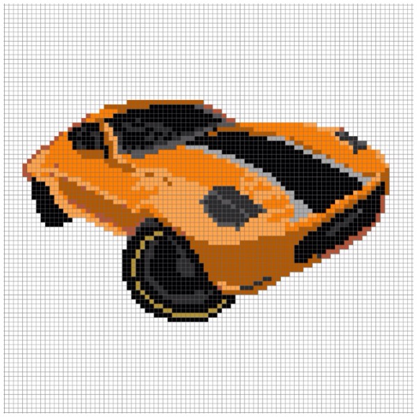 Ford Shelby Series 2015 Perler Bead Pattern By Chasersgaming On