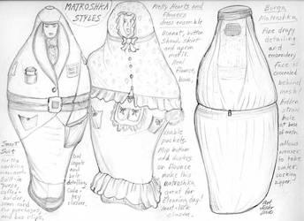 Matroshka Dresses by Artefoster