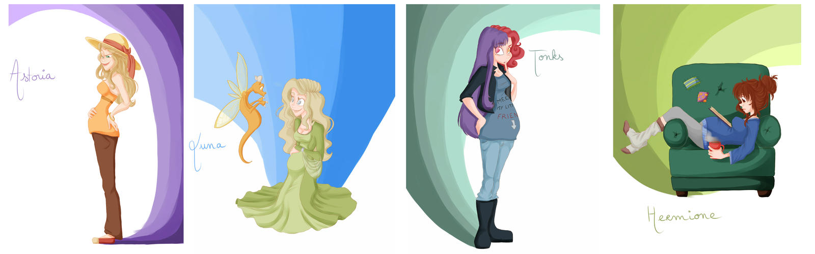 Pregnant Girls : HP Gen Part 2 by GildingofNightfall