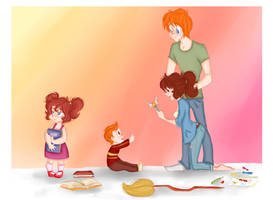 Family Afternoon by GildingofNightfall