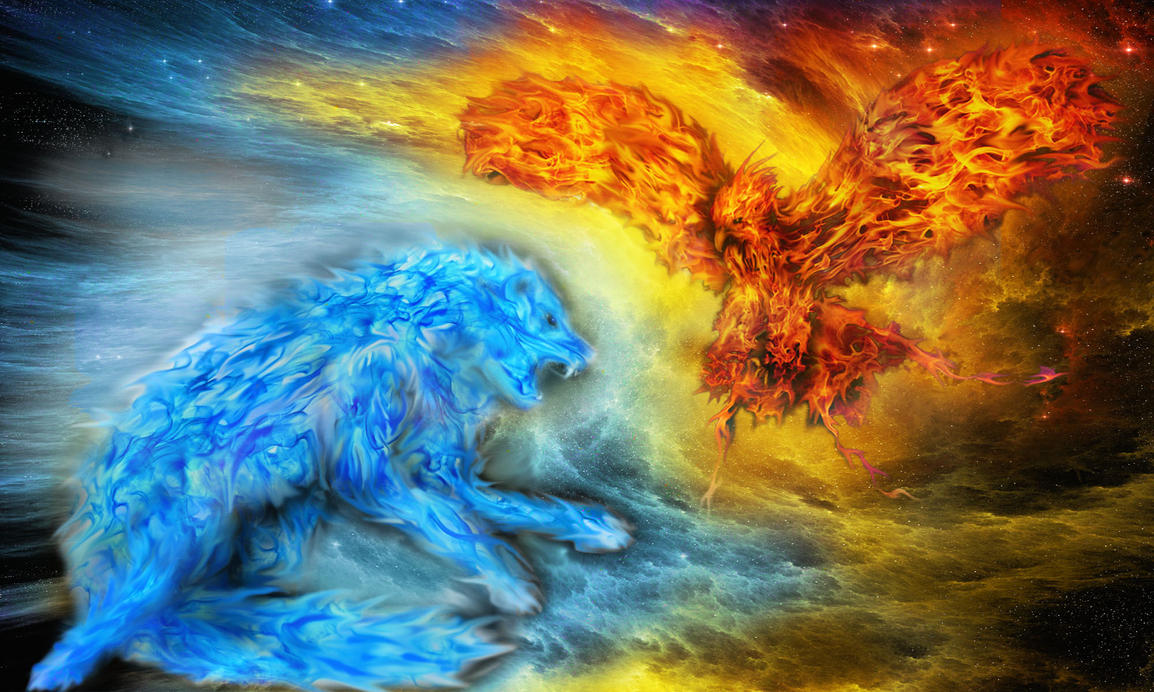 Ice Vs Fire by ev-r-more578 on DeviantArt