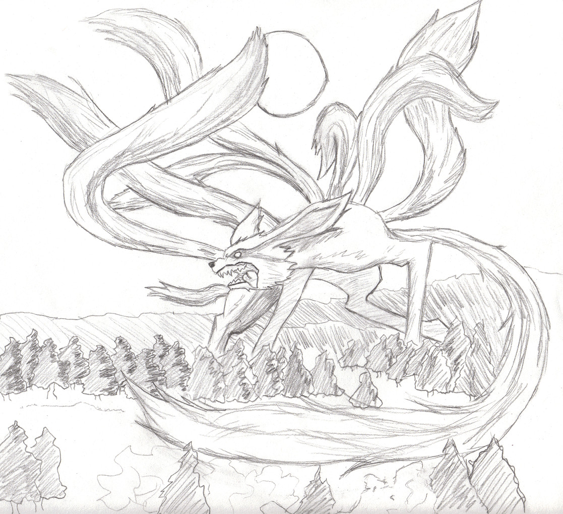 9 Tailed Fox By Littlebabymonster On Deviantart Nine Tailed Fox Coloring Pages
