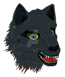 Wolf angry 3056x3616 colored and vectorized