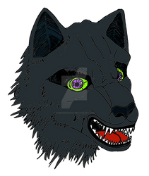 Wolf angry 1528x1808 v3 colored