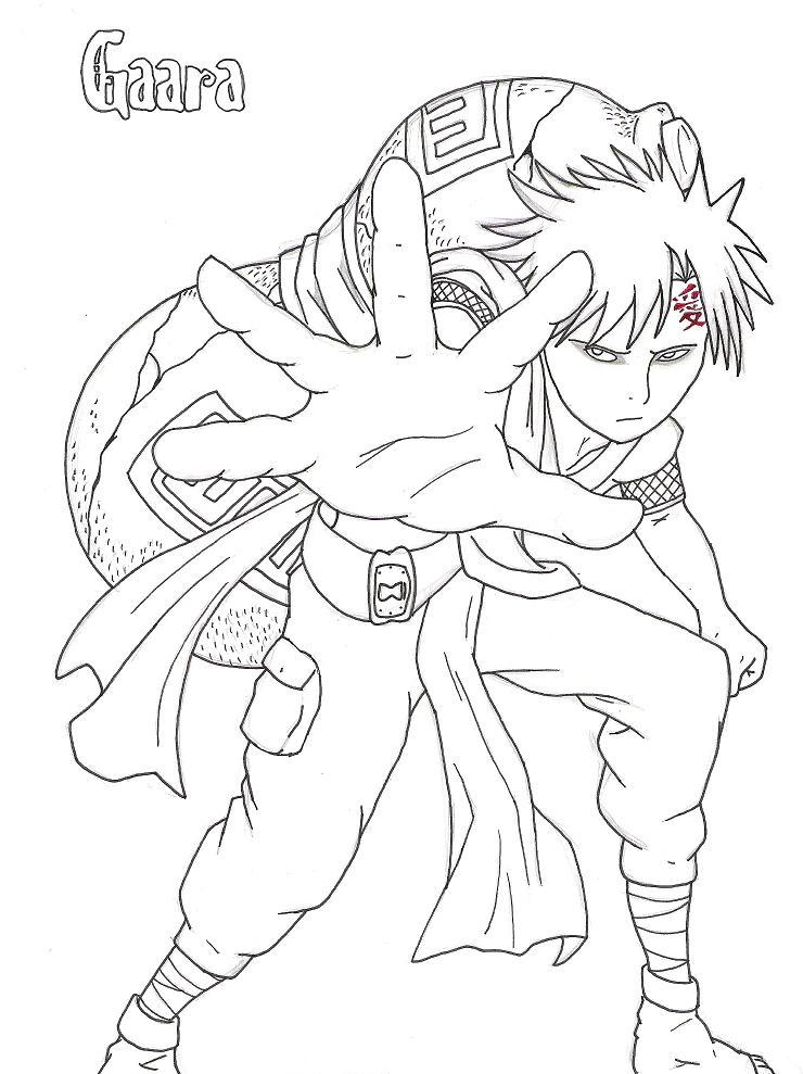 gaara coloring pages - photo#15