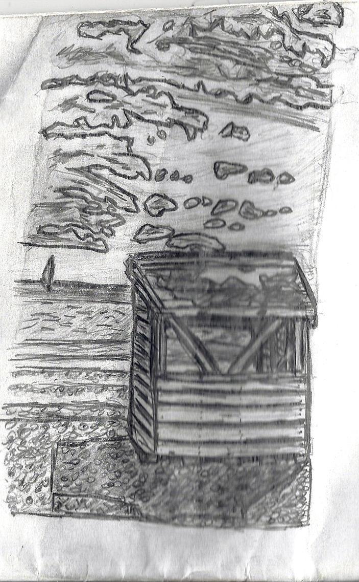 Beach hut pencil sketch by cobra10 on deviantART