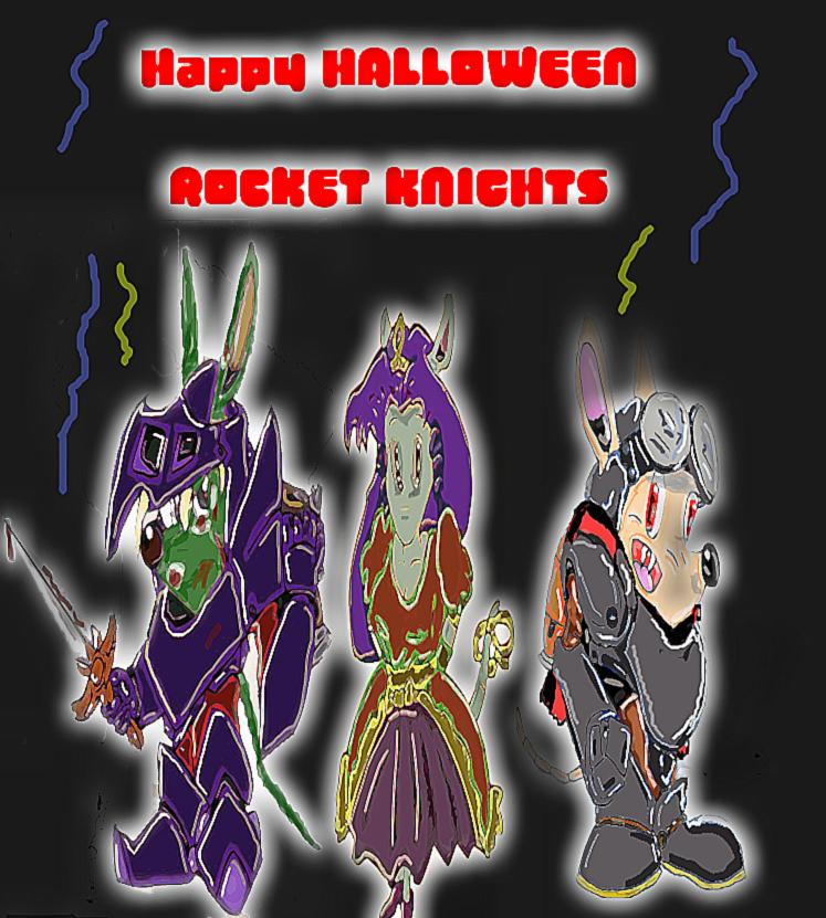 Happy Halloween Rocket Knights by cobra10