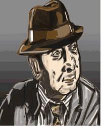 Bob Hoskins (Tribute drawing) by thunderaxewarrior