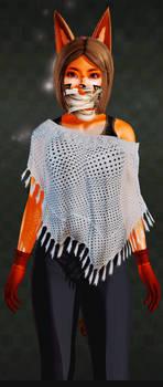 AK girl (costume 9 poncho)