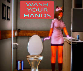 Ak girl says Wash your hands