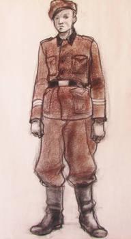 Worried German Soldier