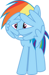 Rainbow Dash frightened