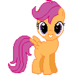 Scootaloo pixel art by iscord