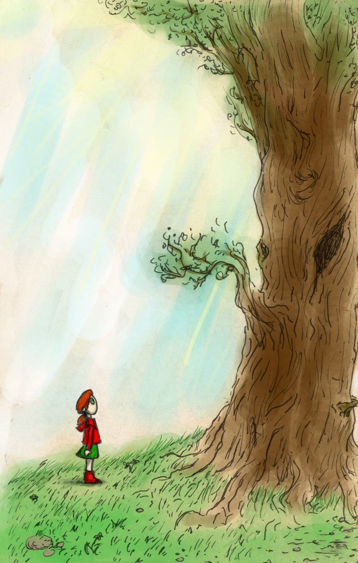 The girl and the tree by KillerSponge