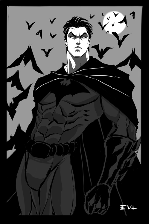 Young Bruce Wayne sketch by ErikVonLehmann