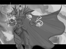 Night Elf Death Knight sketch by ErikVonLehmann