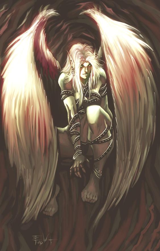 demon girl by ErikVonLehmann