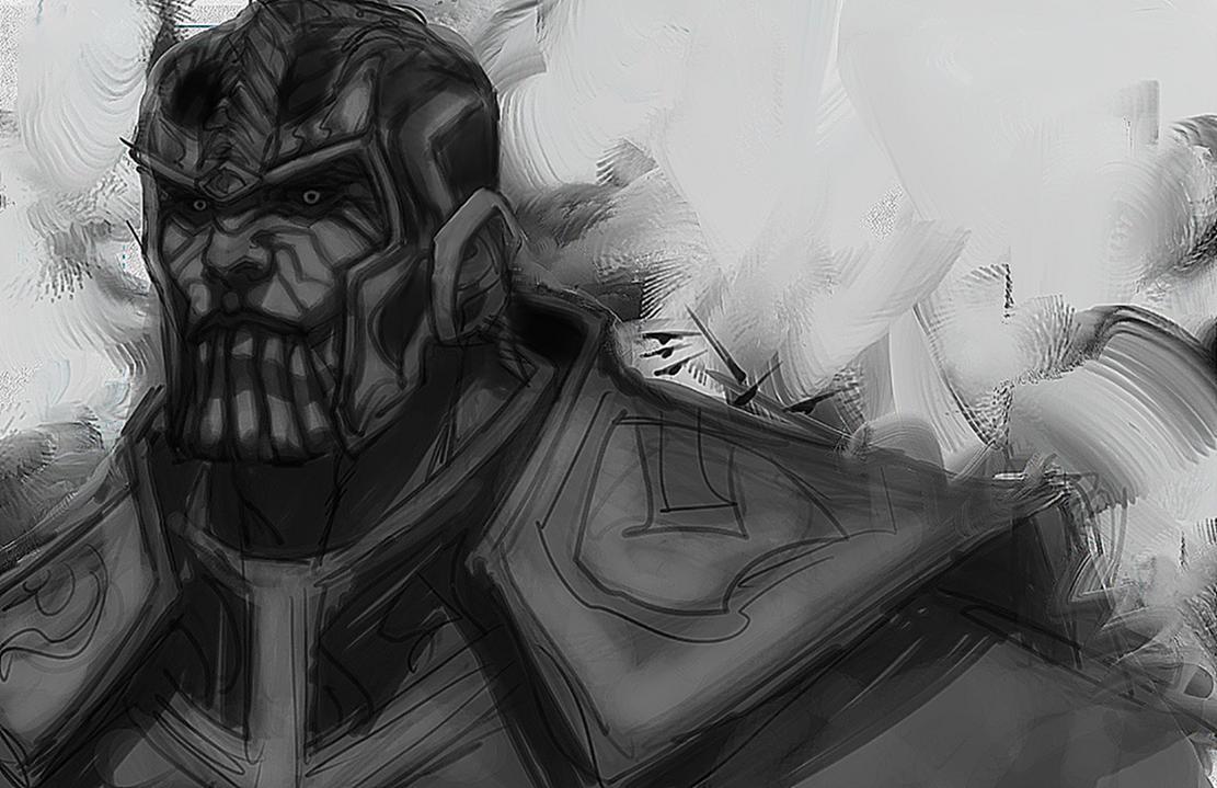 Thanos Sketch by ErikVonLehmann
