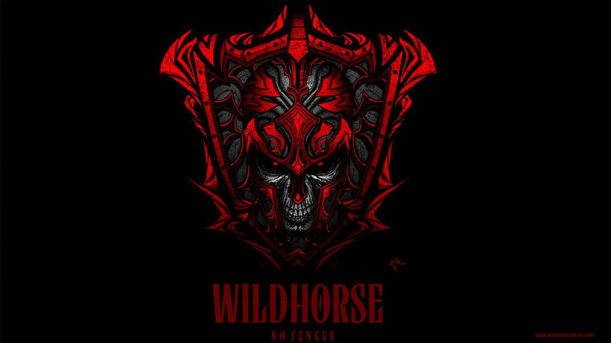 Wildhorse-Skull Shield by ErikVonLehmann