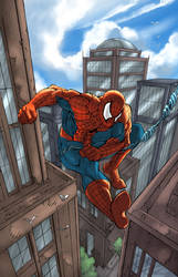 Spiderman Swinging by ErikVonLehmann