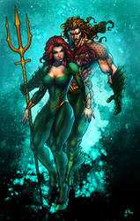 Aquaman and Mera by ErikVonLehmann