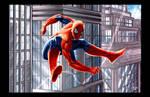 Spiderman Swinging City