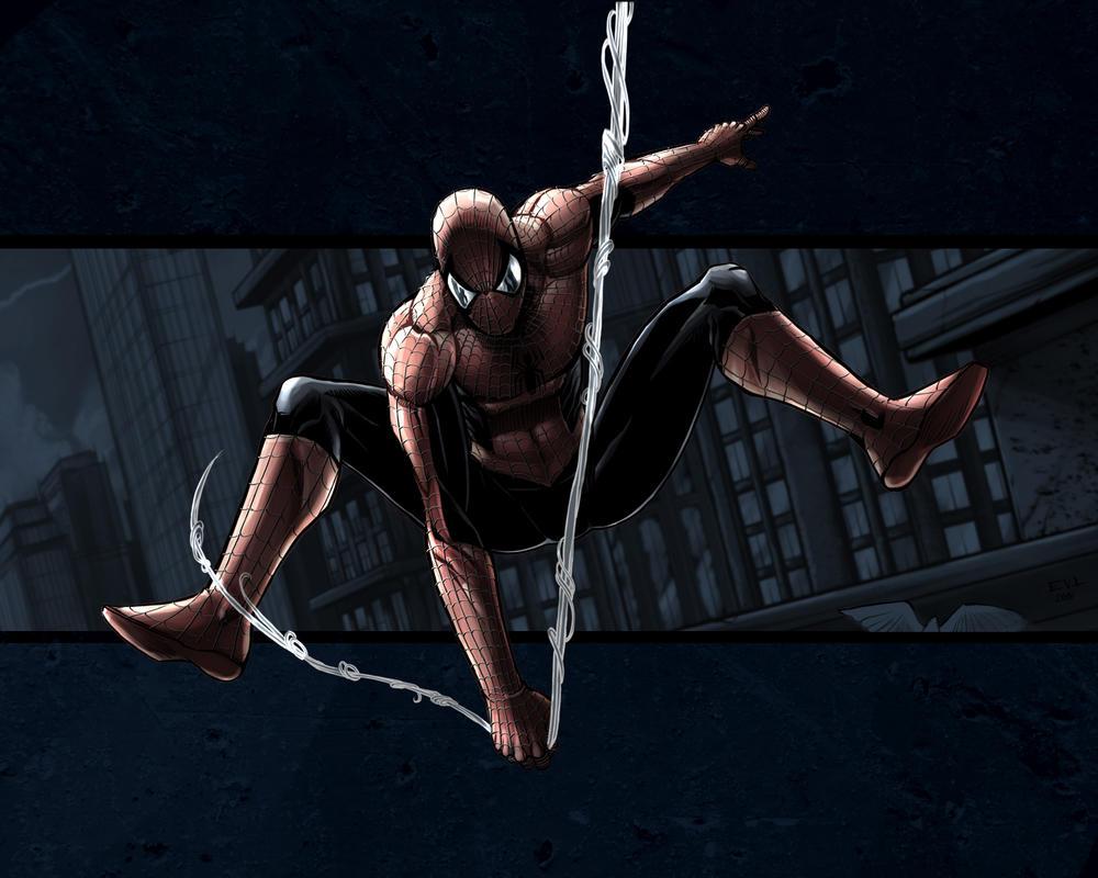 Spider Sling Dark Desktop by ErikVonLehmann