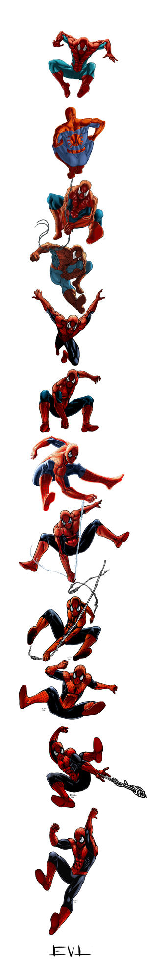 EVL Timeline of Spiderman by ErikVonLehmann