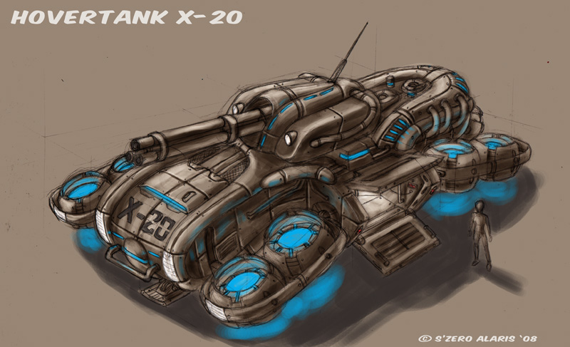 Hovertank X-20 by s0lar1x