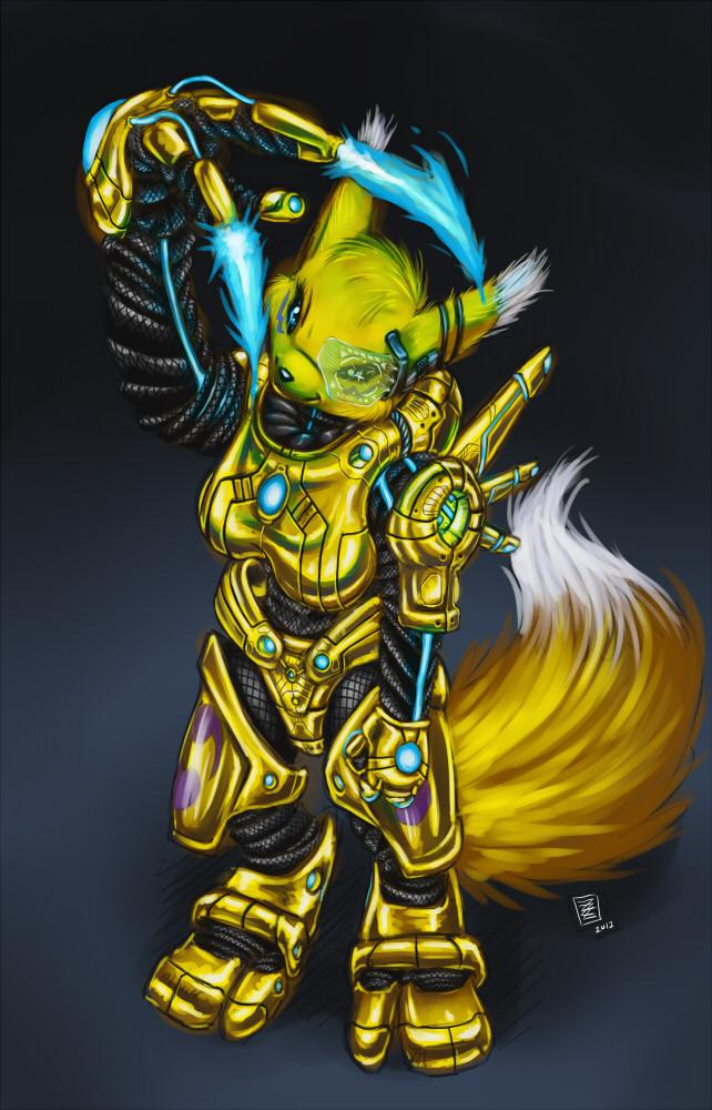 ArmorRenamon by s0lar1x