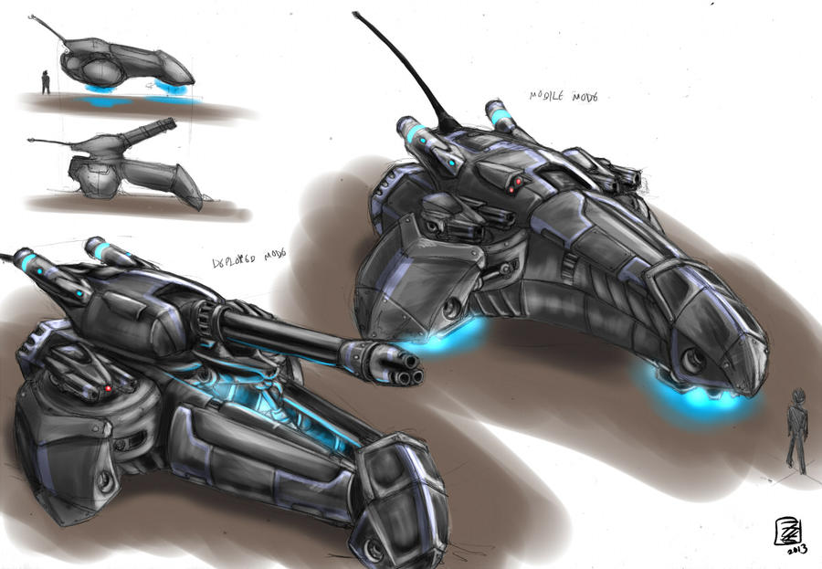 Turtle class Hover Artillery by s0lar1x