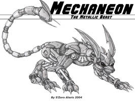 Mechaneon -The Metallic Beast by s0lar1x