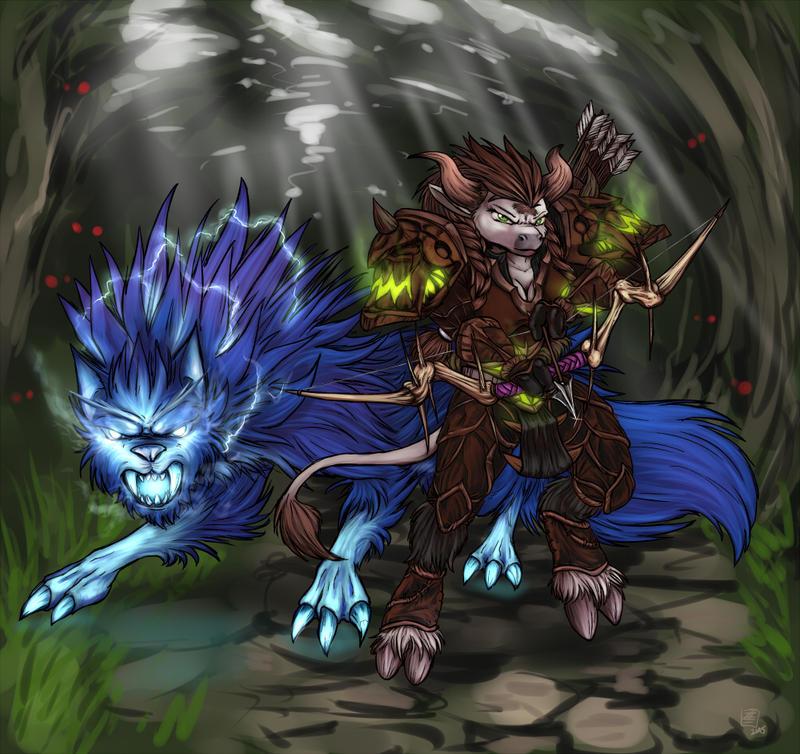 Tauren Hunter by s0lar1x