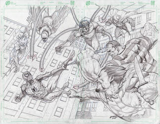 Spidey vs sinister 6 scanned by BienFlores