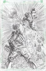 Thanos Vs Green Lantern by BienFlores