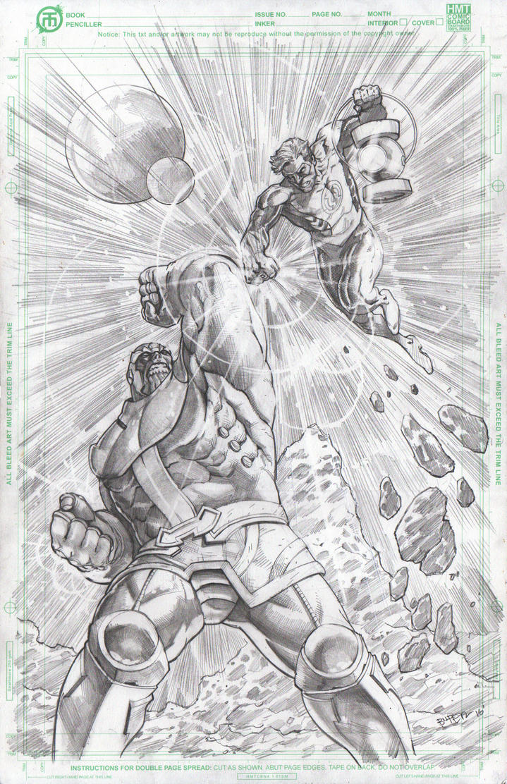Thanos Vs Green Lantern by BienFlores