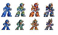 megaman x corrupted: x armors (32-bit and 16-bit) by kensuyjin33