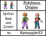Sprites Red and Green (Pokemon Origins)