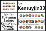Pokemon: Kanto/ noofficial / Orange Islands Badges