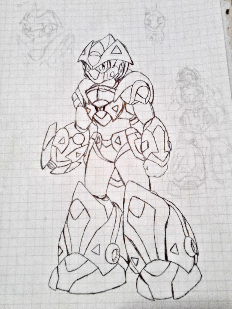 Comet Armor Design - MMX Battle in Time Artwork by kensuyjin33