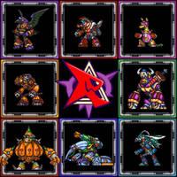 Megaman x7 DEMAKE - New Sprite Design - Bosses by kensuyjin33