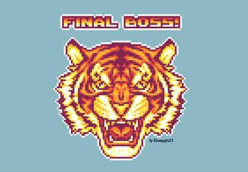 Final boss Tiger - pixel art by Kensuyjin33