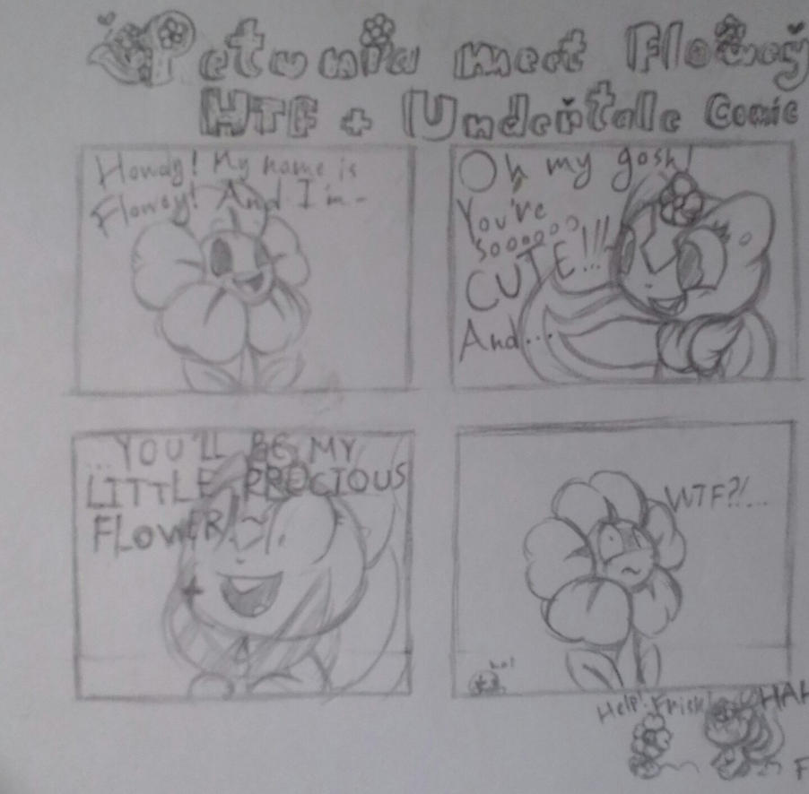 HTF + Undertale Comic - Petunia meet Flowey by 42Andre24