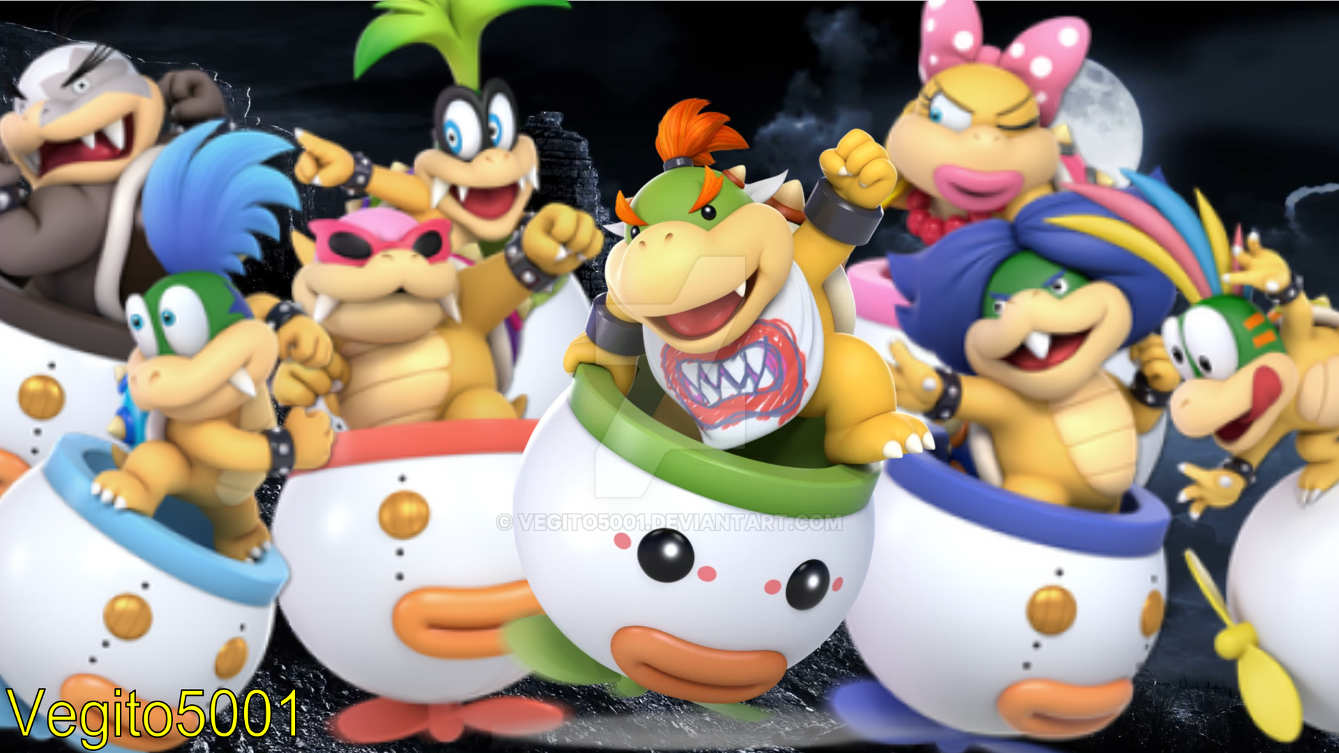 Bowser Jr And Koopalings Smash Ultimate Background By