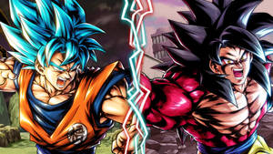 SSB Goku vs SSJ4 Goku (DB Legends Edit)