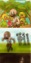 the ugly duckling ilustraciones by yinller