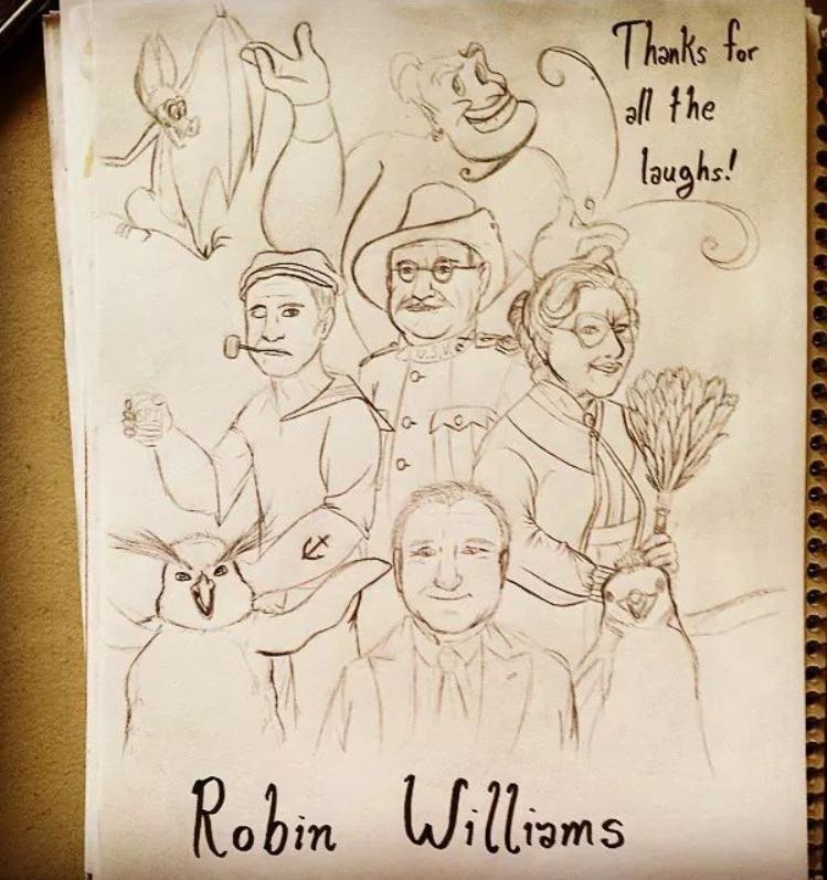 Robin Williams_Sketch by Ila-Mae