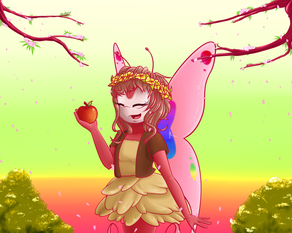 Apple Blossoms_YCH by Ila-Mae