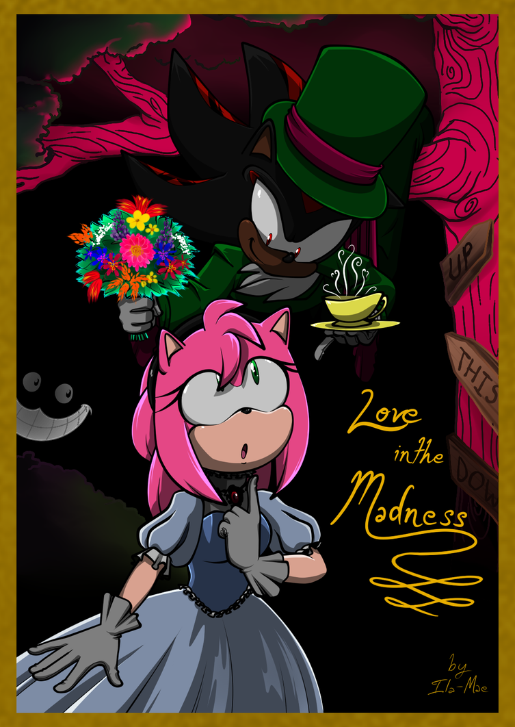 Love in the Madness_Comic Cover by TheShadAmyArtistO10